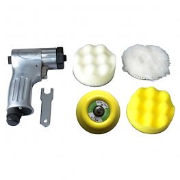 TY73200 Tarboya 3 in. compact pneumatic polisher is ideal for polishing, compounding and applying automotive finishes